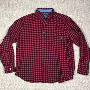 Woolrich Flannel Button Down  Plaid Shirt Size XL